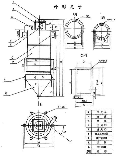 JH、DJ型集合式高压静电除尘器