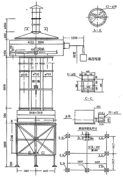 CJMA、CJMB型高压静电管式除尘器