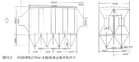 宽间距静电除尘器外形尺寸